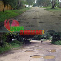 Potholes in Harare Zimbabwe