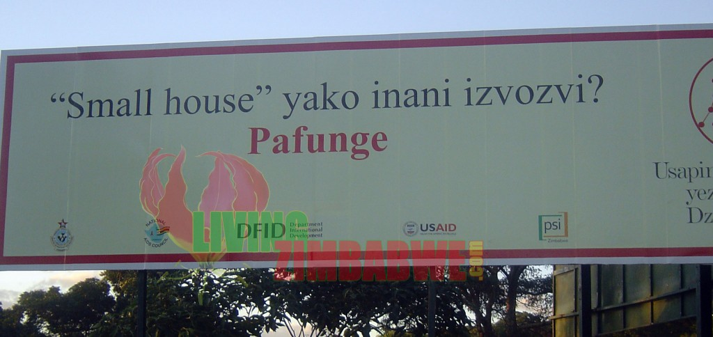 Small House Billboard - Zimbabwe