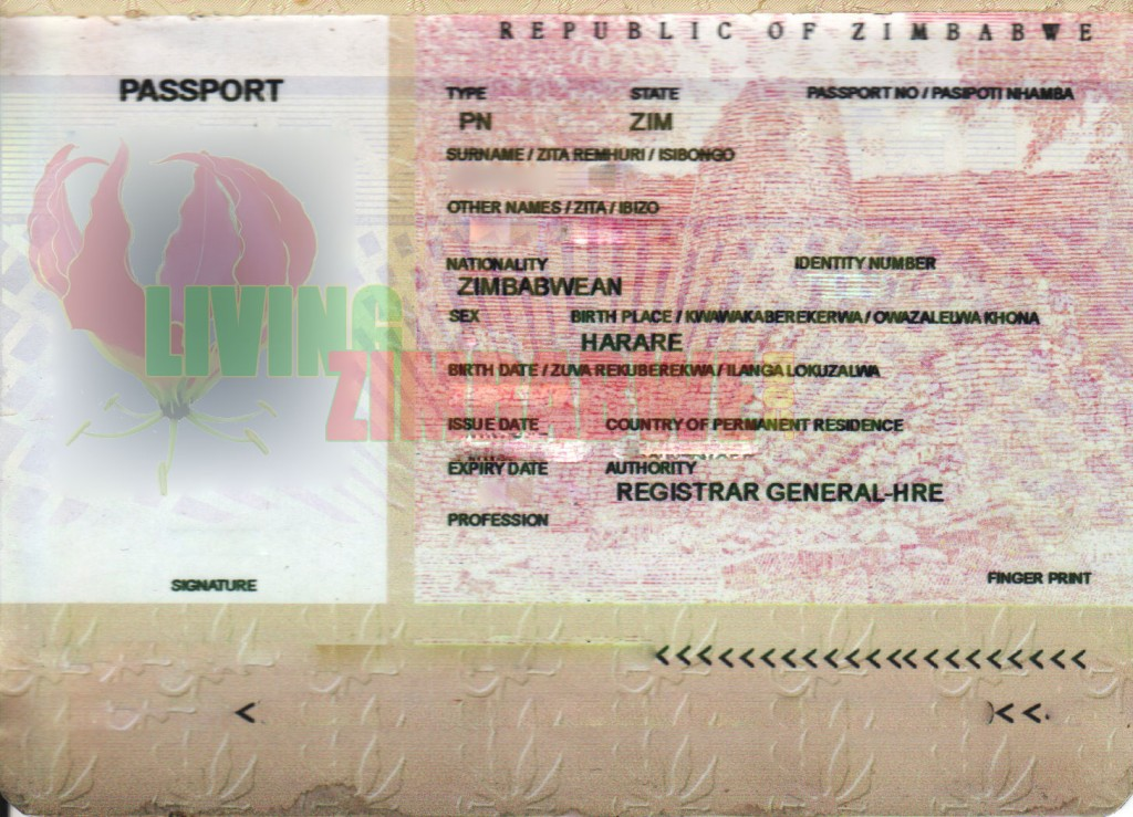 Fraudulent-Fake-Zimbabwe-Passport