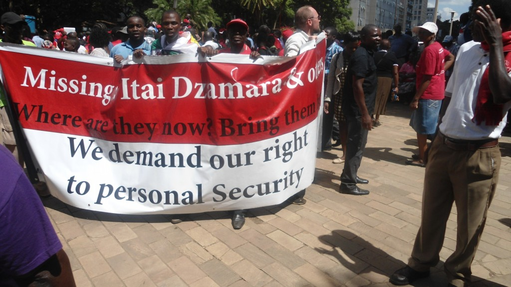 Protesters-calling-for the-return-of-abducted-political-activist-Itai-Dzamara